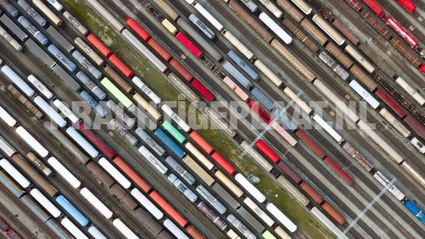 Exclusieve Drone Collectie: Treinen 1 | 90CM X 50CM